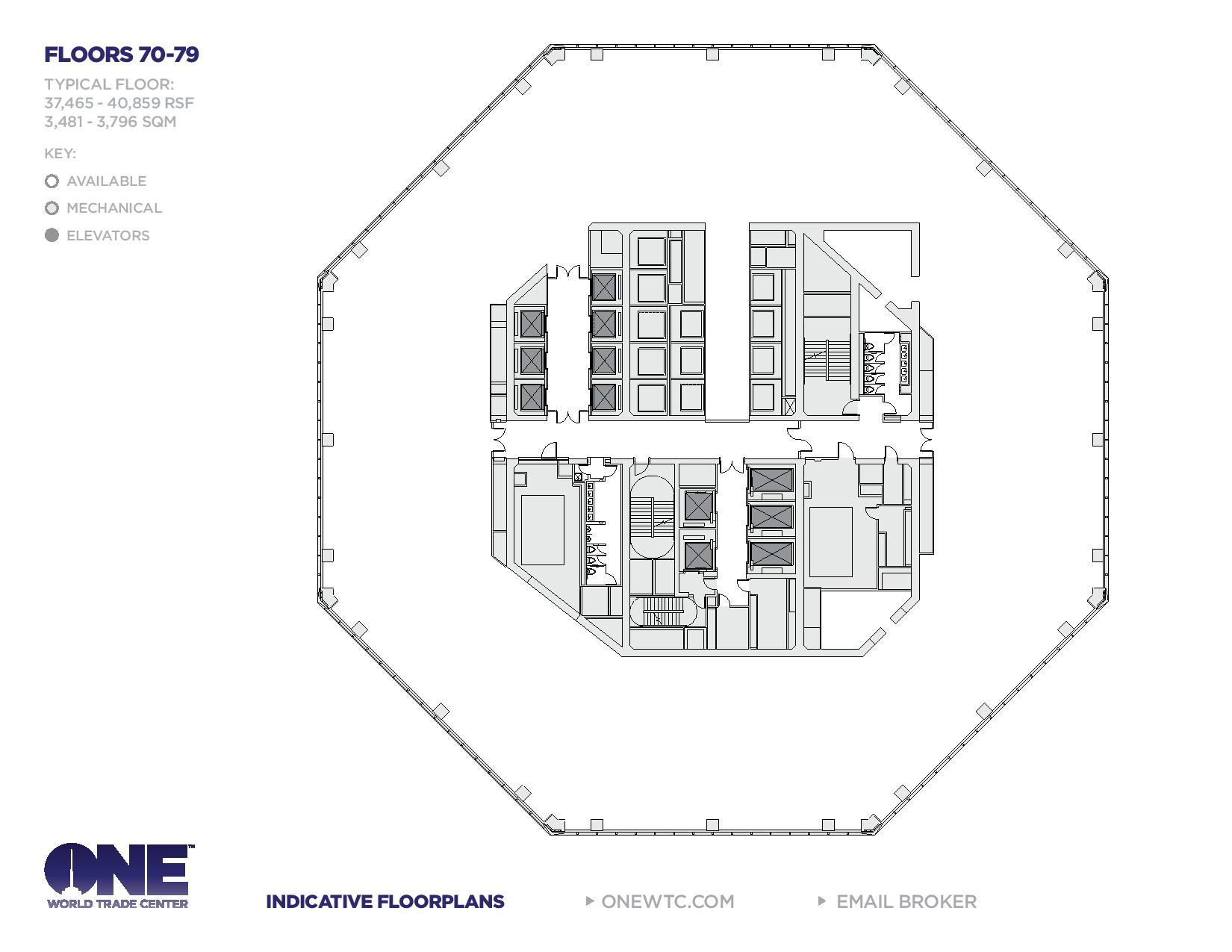 One world trade center freedom tower floor plans new for The world deck plans