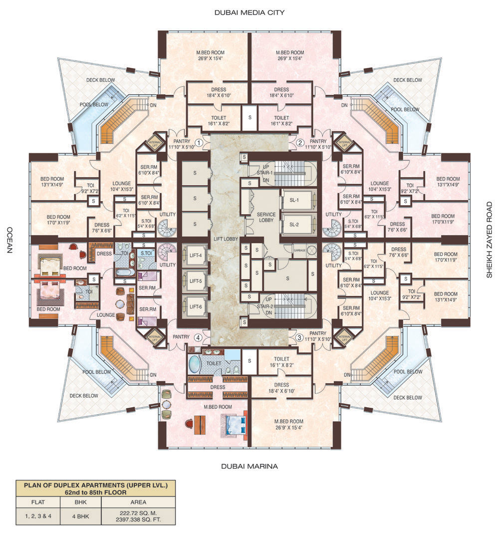 Dubai marina jbr floor plans