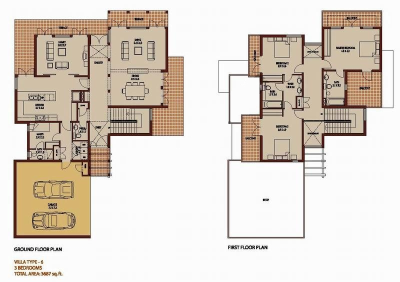 3 bedroom 3687 sq ft saheel arabian ranches dubai for V villa 2 bedroom pantip